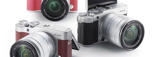 Fujifilm X-A3, una mirrorless per i selfie