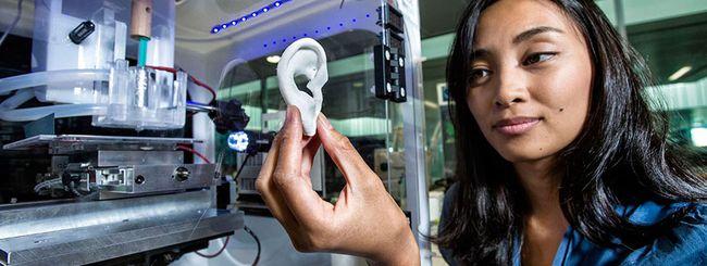 Stampanti 3D per cartilagine, ossa e tessuti umani