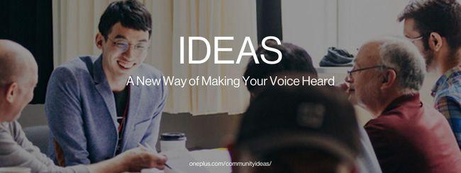 OnePlus IDEAS, suggerimenti dalla community