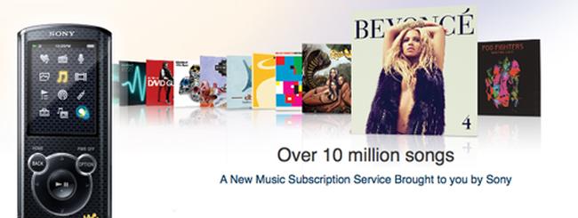 Music Unlimited arriva sui lettori MP3 Sony