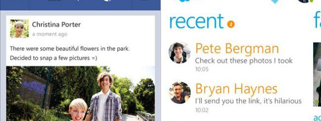 Nuove versioni di Skype e Facebook per WP8