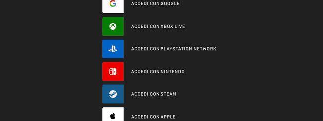 """""""Accedi con Apple"""" sparirà dal portale di Epic Games"""