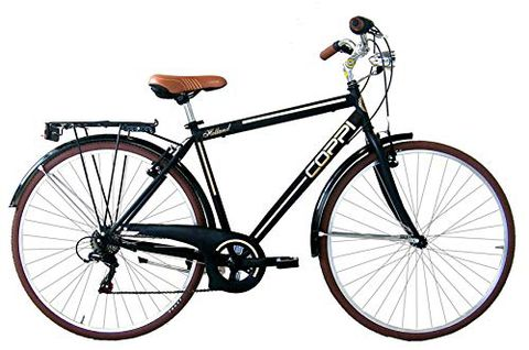 Coppi, City Bike Uomo Men's, Nero, L