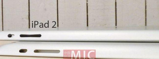 iPad 3 profilo affusolato leggermente più spesso di iPad 2