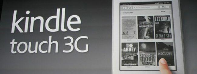 Amazon svela Kindle Touch e 3G
