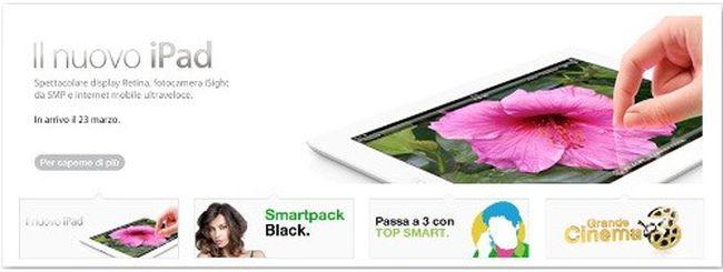 Nuovo iPad, in arrivo con 3 Italia