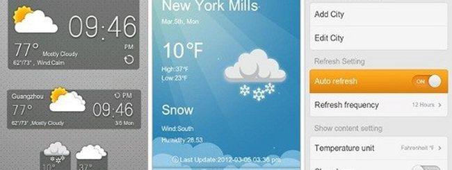 Go Weather Widget, previsioni meteo per Android