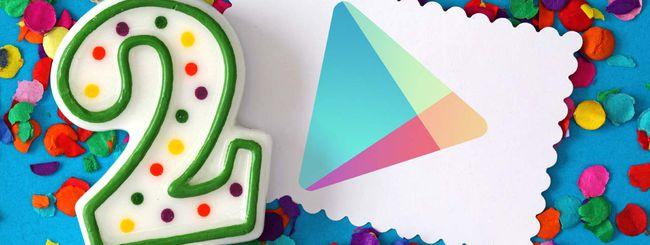 Google Play compie due anni: ecco gli sconti