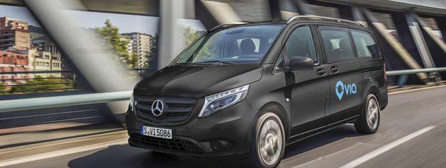 Daimler e Via lanciano un servizio di ride-sharing