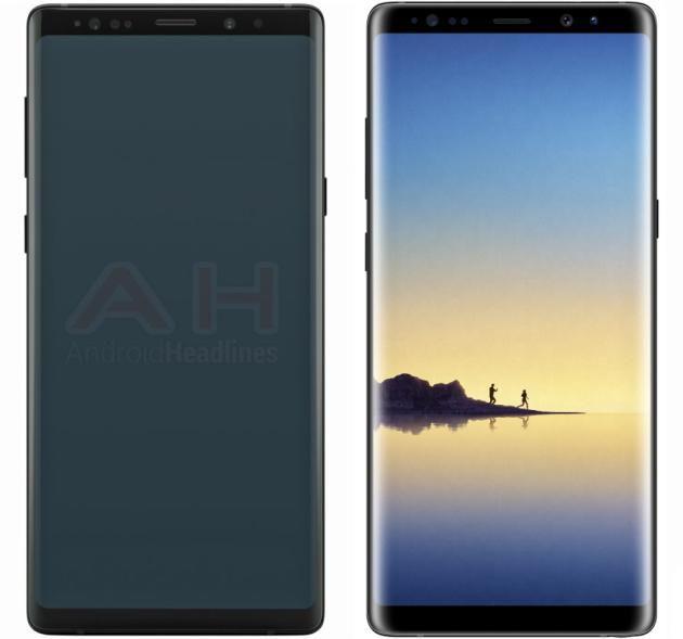 Samsung Galaxy Note 9 (sinistra) e Galaxy Note 8 (destra).