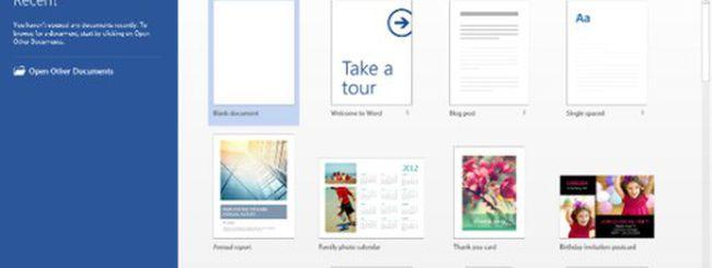 Office 2013, versioni finali RT e Web Apps