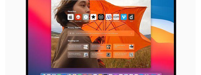 macOS, personalizzare lo sfondo di Safari 14