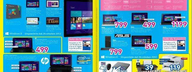 Euronics lancia il nuovo volantino con l'anteprima dei prodotti Windows 8