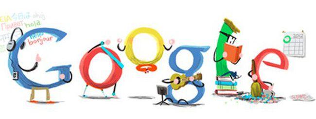 Buon anno da Google, un doodle accoglie il 2012