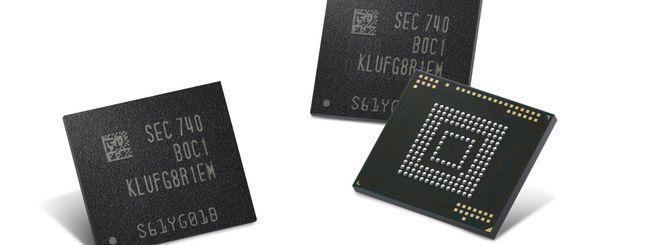 Chip eUFS da 512 GB, Samsung avvia la produzione