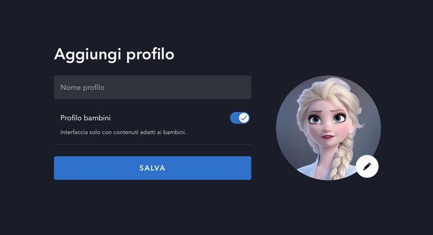 DisneyPlus Profilo Bambini