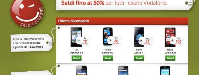 Saldi sino al 50% per tutti i clienti Vodafone