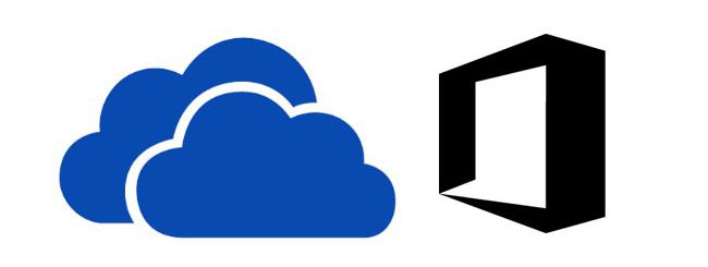 Logo SkyDrive e logo Office