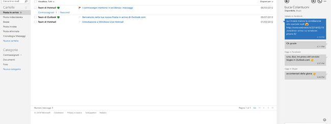 Videochiamate Skype in Outlook.com per tutti