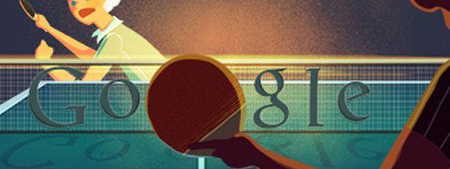 Olimpiadi di Londra 2012: un doodle per il tennis da tavolo