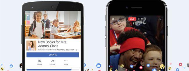 Facebook apre alle raccolte fondi personali
