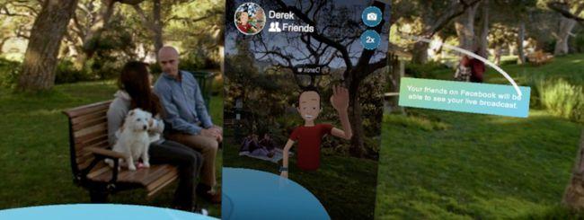 Facebook, live streaming dalla realtà virtuale