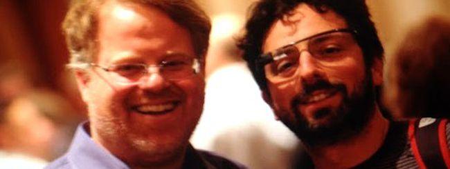 Sergey Brin, barba e occhiali