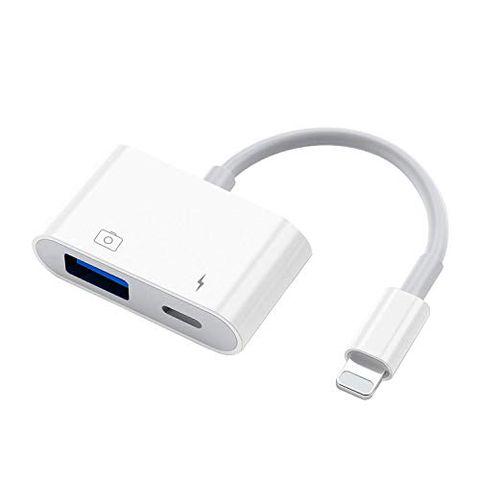 MeloAudio Adattatore USB per fotocamera con porta di ricarica