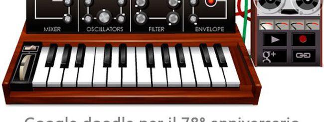 Robert Moog, un sintetizzatore nel Google doodle