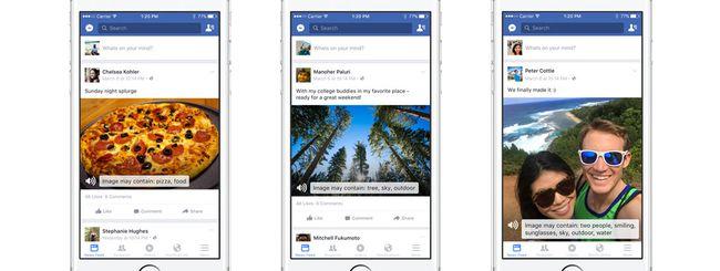 Facebook, l'app per iOS permette ai non vedenti di avere una descrizione delle foto