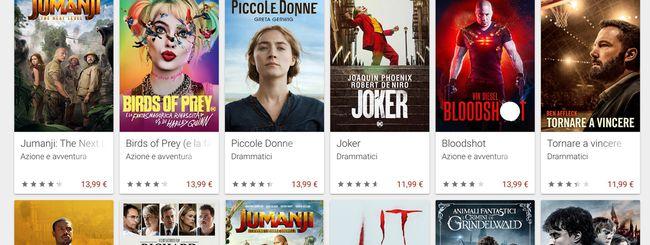 Google Play Film aumenta il catalogo dei film in 4K