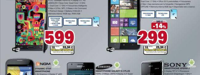 Volantino Unieuro: Samsung Galaxy S3 a 299 euro