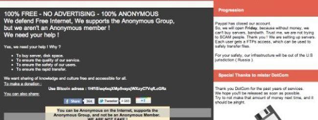 Megaupload ha un erede: Anonyupload (update)