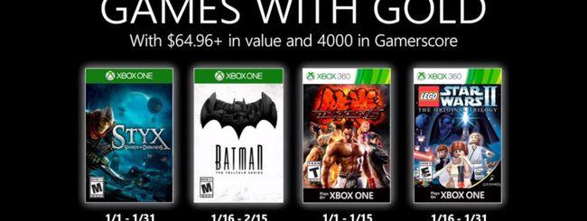 Microsoft svela i Games With Gold di gennaio 2020