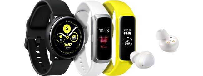 Galaxy Watch Active, Buds, Fit e Fit e ufficiali