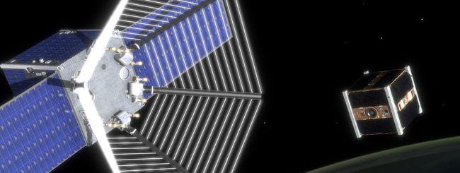 Il satellite Pac-Man contro i detriti spaziali