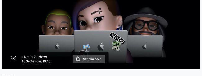 Evento Apple il 10 settembre? C'è un Live su Youtube