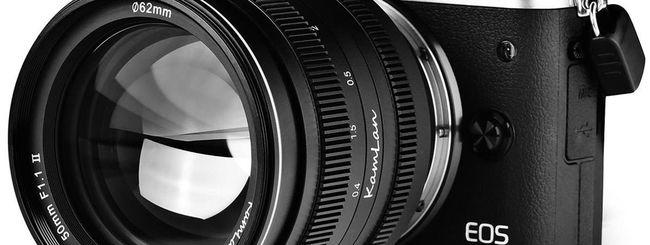 Kamlan 50mm f/1.1 II, rilasciato il nuovo fisso ultra veloce per mirrorless APSC e Micro 4/3