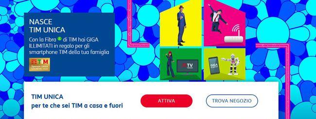 TIM Unica: fisso, mobile, TV e smart home