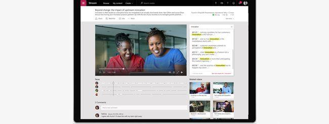 Microsoft Stream, piattaforma video per Office 365