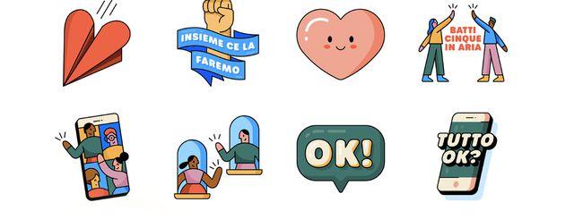 "Whatsapp introduce gli stickers ""Insieme a casa"""