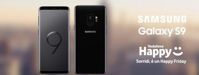 Galaxy S9 a 399,99 euro con Vodafone Happy Friday
