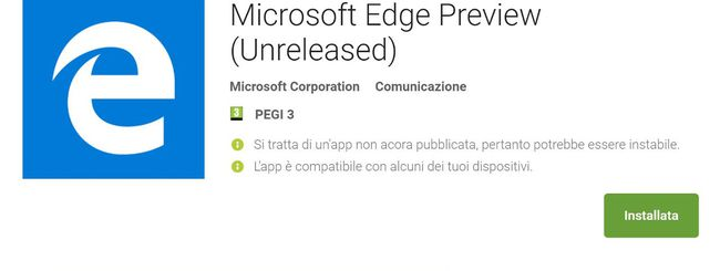 Microsoft Edge per Android, hands-on