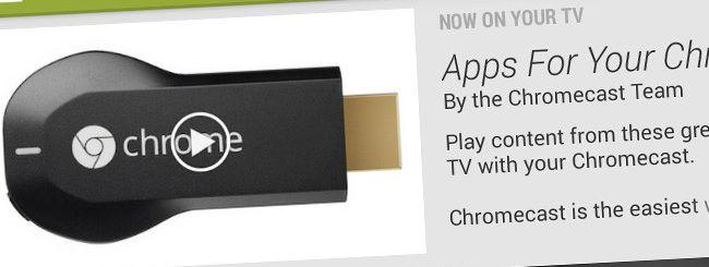 Le applicazioni per Chromecast su Google Play