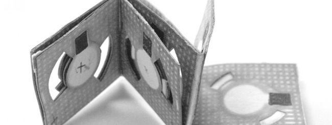 Batteria origami alimentata con l'acqua sporca