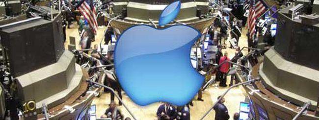 Apple: azioni a 552 dollari, capitalizzazione di 514 mld