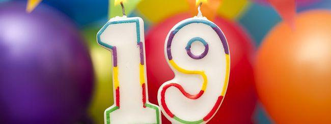 Google celebra i suoi 19 anni con un doodle