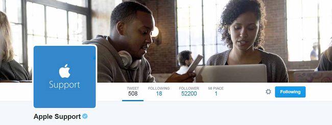 Apple dà supporto clienti su Twitter
