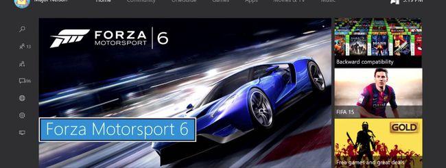 Xbox One, uno sguardo a Windows 10