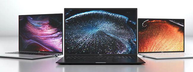 LG annuncia nuovi laptop della serie Gram per il 2021